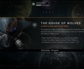 Destiny DLC House of the wolves